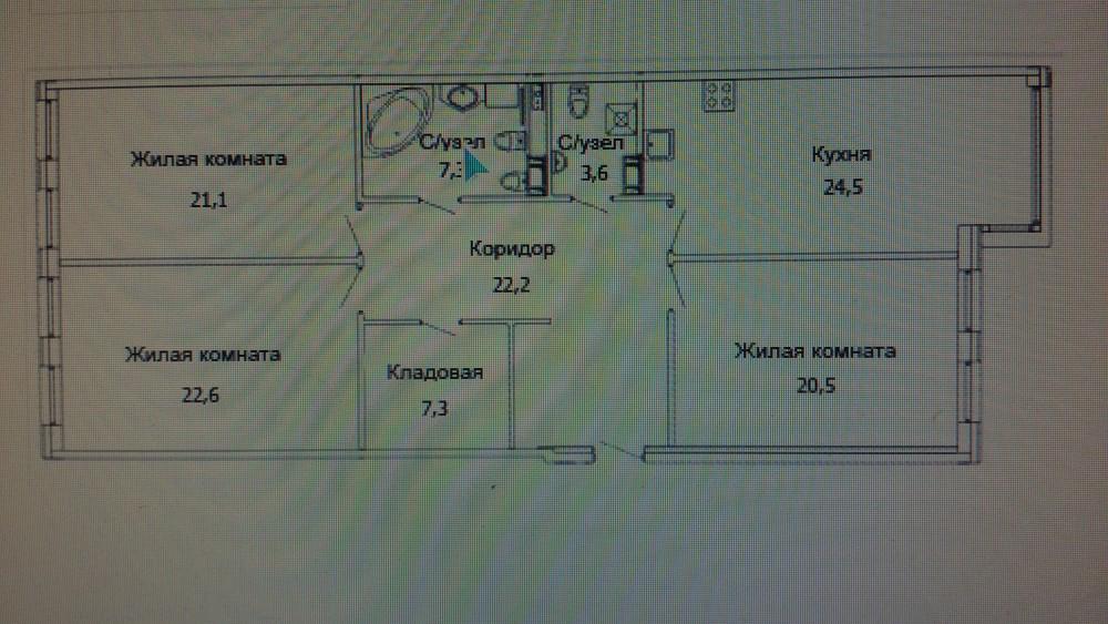 Трёхкомнатная квартира на Каменноостровском пр д 64