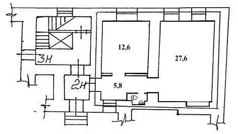 Продажа помещения 47м на ул Рылеева д 23