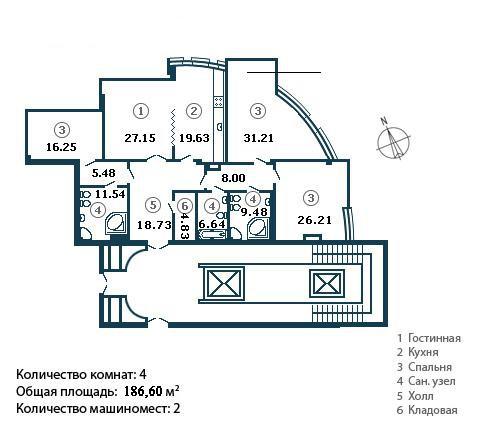 Четырёхкомнатная квартира Крестовский о-в Константиновский пр
