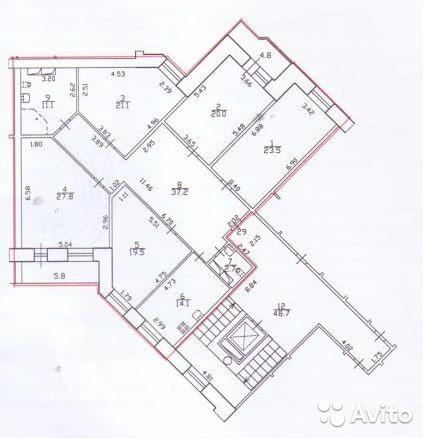 Пятикомнатная квартира в Московском районе Ленинский пр. д.147 к.2,