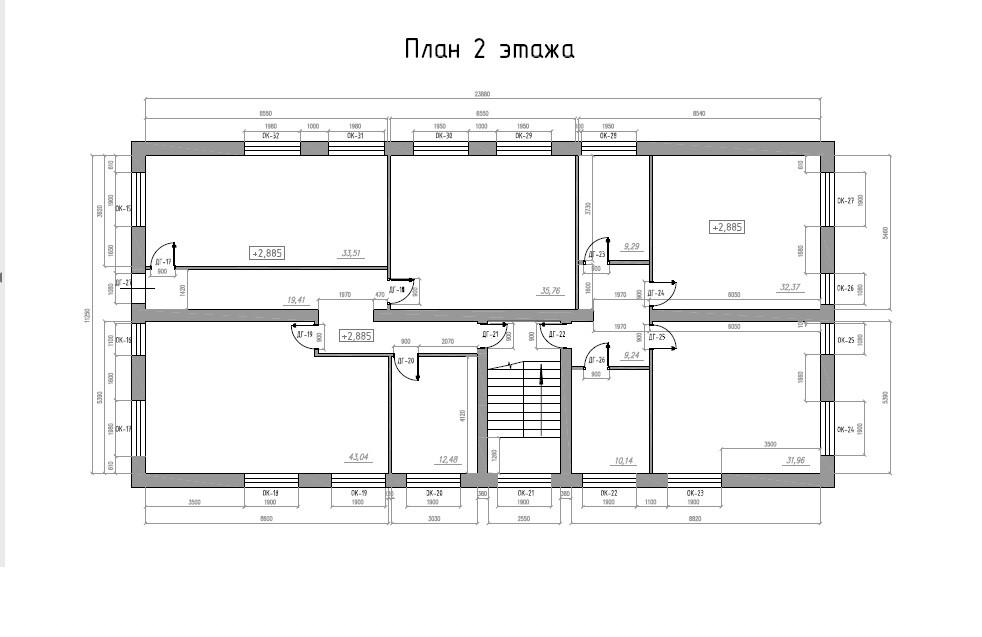 Планировка офисов: 2 этаж