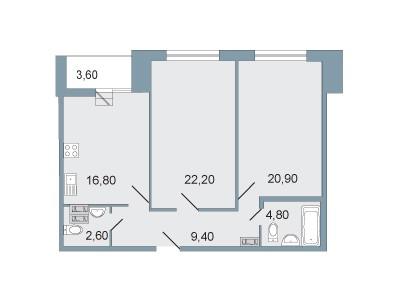 """Продажа 2-комнатной квартиры, ЖК """"Четыре горизонта"""""""