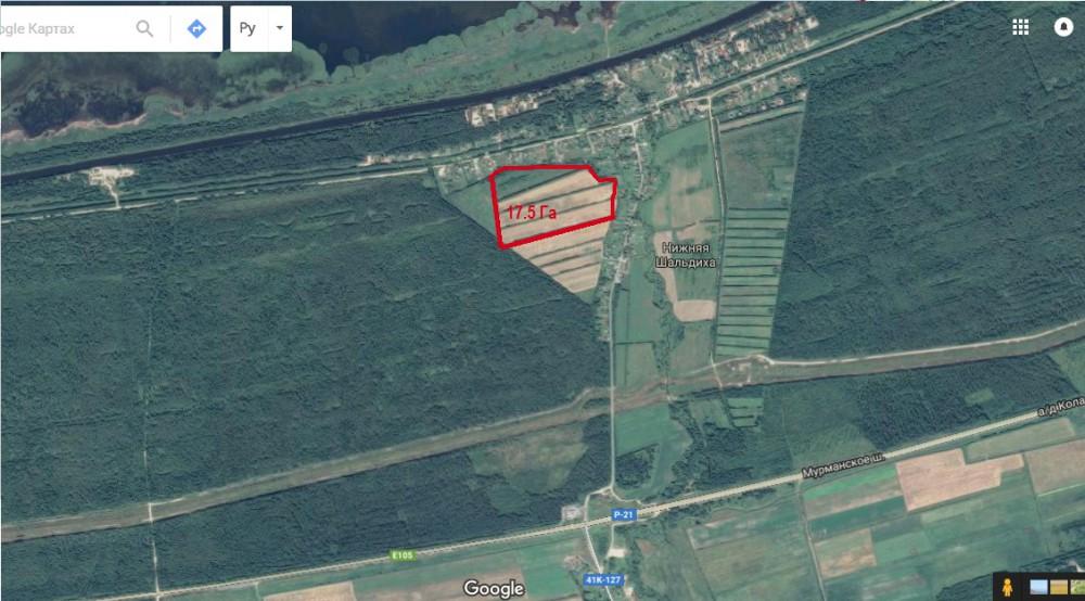 Земельный участок под коттеджную застройку у Новоладожского канала