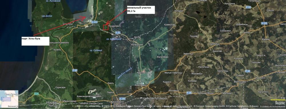 Продажа земельного участка 39,6 Га в Усть-Луге
