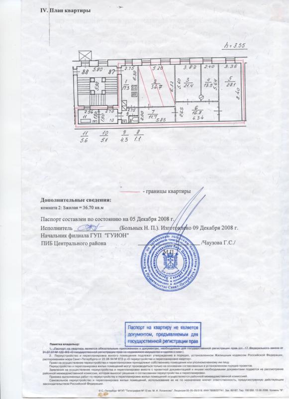 Четырёхкомнатная квартира Набережная реки Фонтанки д34