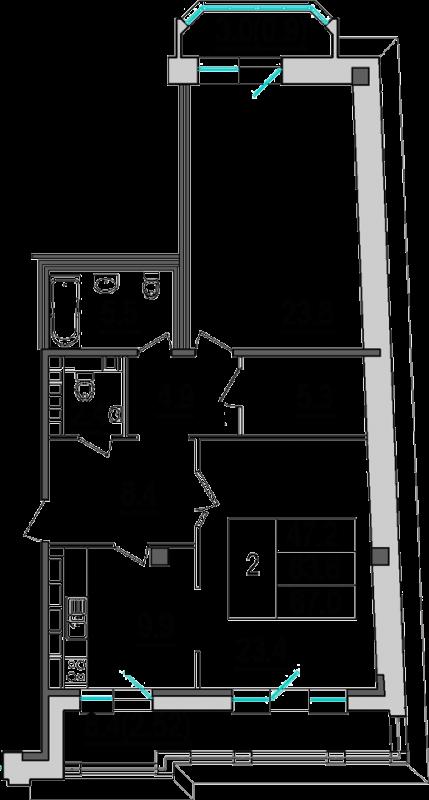 Продажа двухкомнатной квартиры на 4 Советской ул д9